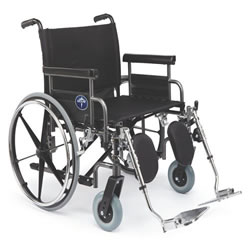 Excel Bariatric Shuttle Wheelchair  24  Wide