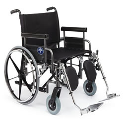 Excel Bariatric Shuttle Wheelchair  26  Wide