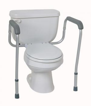 Commode Accessories  Toilet Safety Rails  Foldable  250 lb. Weight Capacity  Qty. 1 pr
