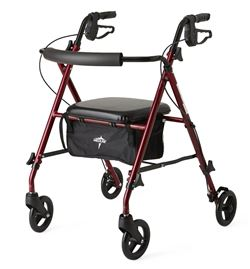 Medline Ultralight Rollator  Burgundy