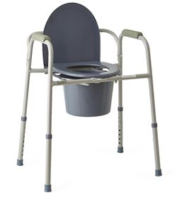 Deluxe 4-in-1 Steel Commode