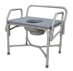 Drop Arm Steel Commode - Bariatric Commode  850 lb. Capacity