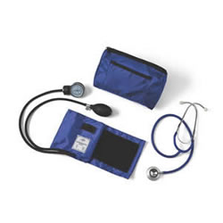 Compli-Mates Dual-Head Stethoscope & Aneroid Sphyg  Royal Blue