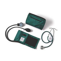 Compli-Mates Dual-Head Stethoscope & Aneroid Sphyg  Hunter Green