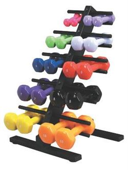 Vinyl-Coated Dumbbell Weights - Standard Set  20 pieces
