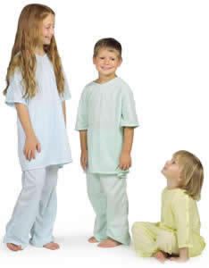 Medline Comfort-Knit Pediatric IV Gowns Qty. 24 #MDT011282