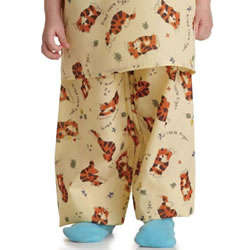 Medline Tired Tiger Pediatric Elastic Waist Pajama Pants