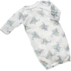 Noah's Ark Infant Gowns with Mitten Cuff Size 0-6 Months