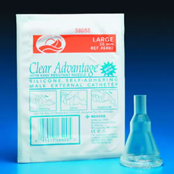 Clear Advantage with Aloe External Male Catheter 100/Box-All Sizes
