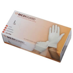 MediGuard Powdered Latex Exam Gloves