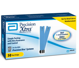 Precision Xtra Glucose Monitoring System  Test Strips  Qty. 50