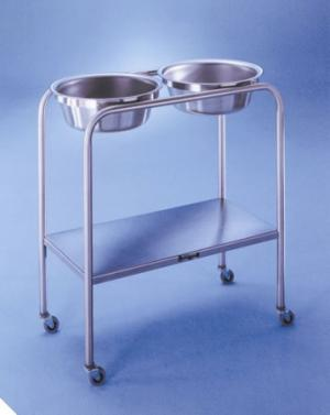 8 1 2 Quart Solution Stands - Double basin  29  L x 15 W x 33 H
