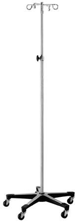 Medline's 5-Leg IV Stands - IV Stand  Two hooks