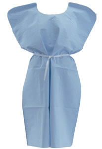 Medline Disposable X-Ray Gowns Qty. 50-Blue