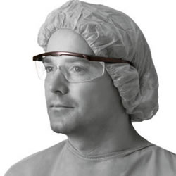 Safety Glasses With Black Strip 12/Box