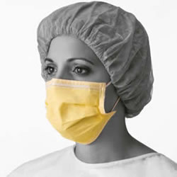 Basic Isolation Mask With Ear Loops  Yellow  300 Each   Case