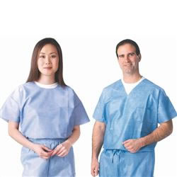 Disposable Scrub Wear Round Neck Shirt, Pack of 30