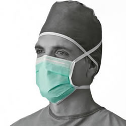 Prohibit  Adhesive Tape  Anti-Fog Mask With Ties  Green  300   Case