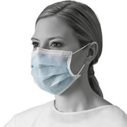 Standard Procedure Mask With Ear Loops  Blue 300  each case