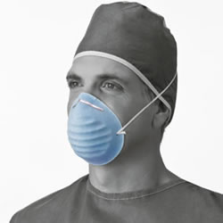 Cone-Style Mask  Blue  300 Each   Case