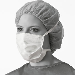 Hypoallergenic Surgical Mask  With Ties  White  50 Each   box