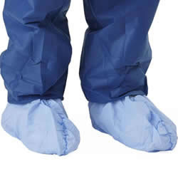 Medline Medium Weight Coated Polypropylene Shoe Covers Qty. 300/Case