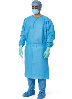 Premium Suprel Isolation Gowns Blue