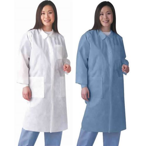 Classic SMS Disposable Lab Coats with Knit Cuffs