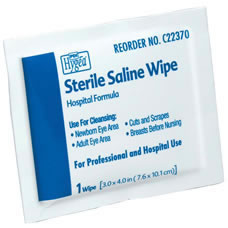 Sterile Saline Wipes  Qty. 576