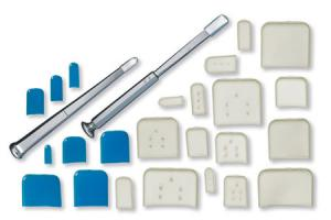 Osteotome Guards - 25.4mm x 25.4mm  blue  Qty. 50_1