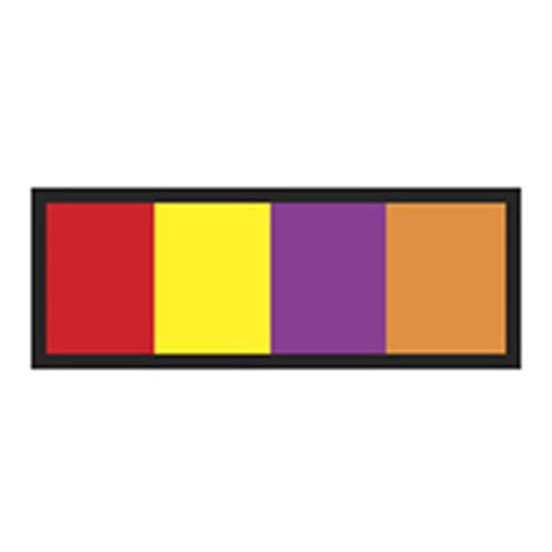 Identification Sheet Tape - Red  yellow  purple  orange  1 4