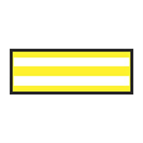 Identification Sheet Tape - Yellow white stripe  1 4