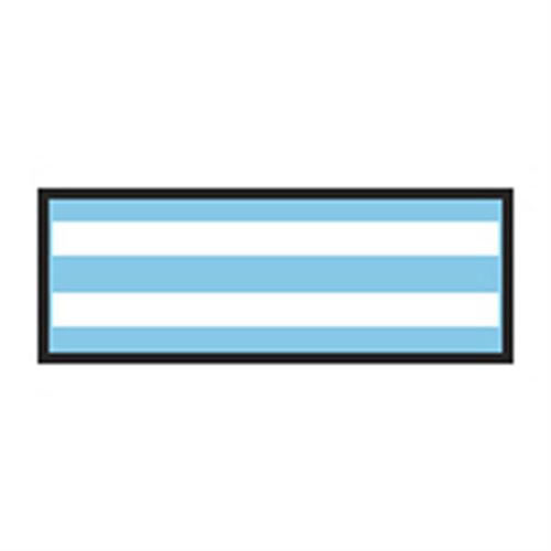 Identification Sheet Tape - Light blue white stripe  1 4