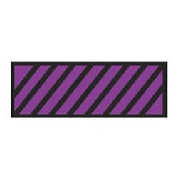 Identification Sheet Tape - Purple black diagonal stripe  1 4