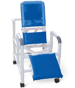 Reclining PVC Shower Chairs - Reclining Chair, Deluxe