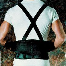 9  Back Belts With Suspenders Black Regular Sportaid