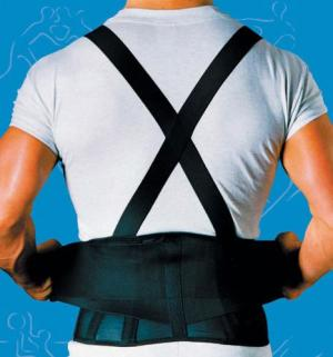9  Back Belts With Suspenders Black Ex-Small SportAid