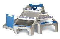 Steriset Laparoscopic Tray - Fits in 8  high full-size Steriset container. Holds 12 instruments.