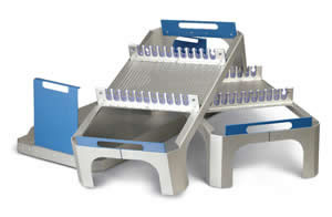 Steriset Laparoscopic Tray - Fits in 10  high full-size Steriset container. Holds 23 instruments.