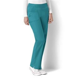 WonderNext Women's Elastic Back Flat Front Pant #5219