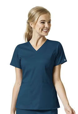 Wonderwink PRO Women's 4 Pocket V-Neck Tops #6319
