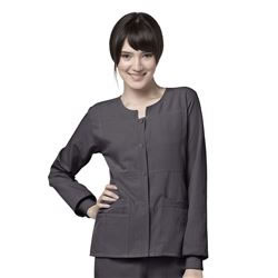 WonderWink Four-Stretch Sporty Button Front Scrub Jacket #8114