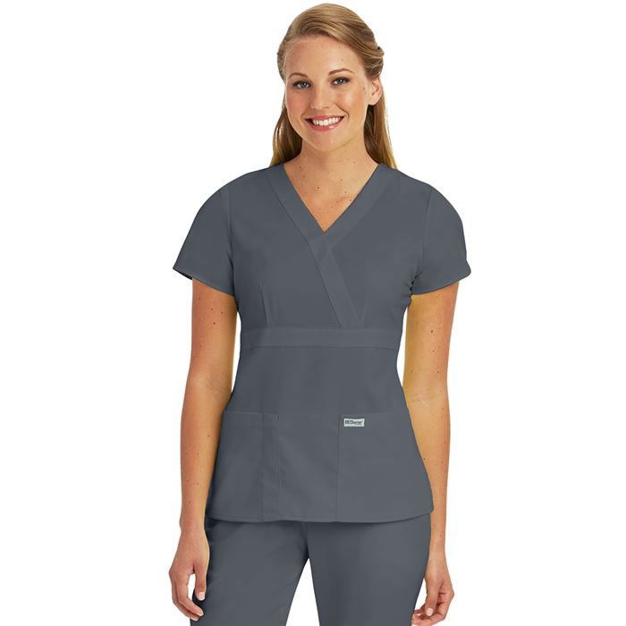 Grey\'s Anatomy Scrubs- Mock Wrap Top-#4153 XXS-5XL