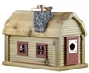 Mountain Cabin Birdhouse | Cedar | Handcrafted by Boulder Bay Birdhouse | Made in USA