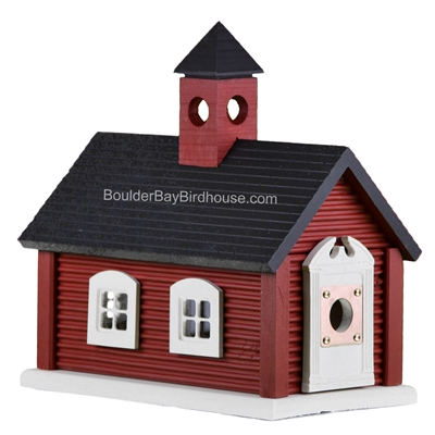 Schoolhouse Birdhouse | Cedar | Handcrafted by Boulder Bay Birdhouse | Made in USA