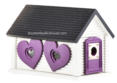 Sweetheart Cabin Birdhouse, Cedar, Garden Decor, Unique Gift Idea, Made in USA.