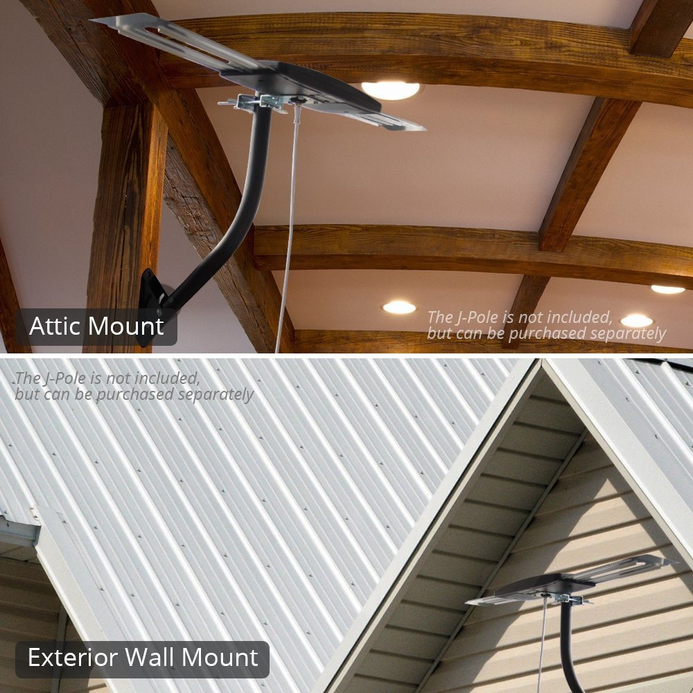 Antop At 404b Smartpass Amplified Multi Directional Digital Outdoor Attic Tv Antenna With Built In 4g Lte Filter Smart Pass Amplifier