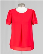 Azi Rnd Neck Cap Slv Top Z10867