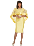Donna Vinci Dress W/Cape 11911