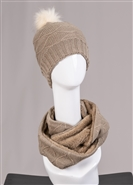 Fashion Hat & Scarf Set 9816